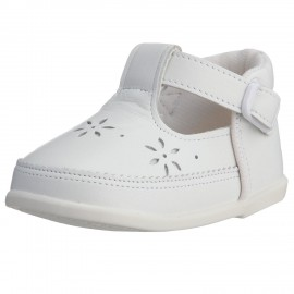 "LEATHERIAN SECOND SHOES White ""Small Flower"""