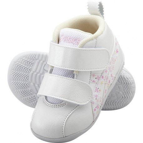Baby Shoes ASICS Fabre First White with Pink Flower