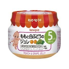 """Kewpie """"Peach & Grape Jelly""""  желе из белого персика и винограда с 5 месяцев"""