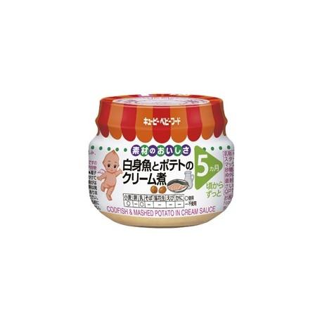 """Kewpie """"Codfish & Mashed Potato in Cream Sauce"""" треска с картофельным пюре под белым соусом с 5 месяцев"""