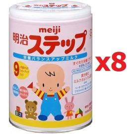 MEIJI STEP детская молочная добавка с 9 месяцев до 3 лет (1 коробка х 8 банок)