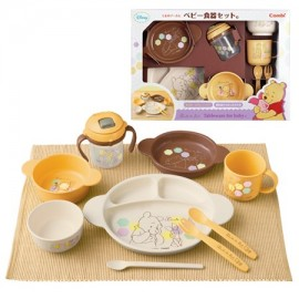 "Combi Baby Label Dish Set C "" Winni-the-Phoo"""