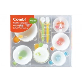 Combi Baby Label Dish Step Up Set W