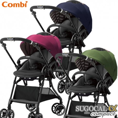 Stroller Combi SUGOCAL α 4Cas Compact Eggshock HK
