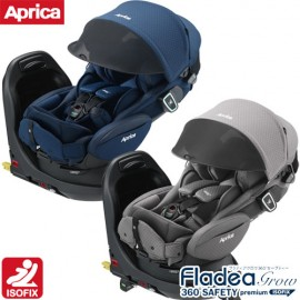 Child Carseat Aprica Fladea Grow ISOFIX 360° Safety Premium