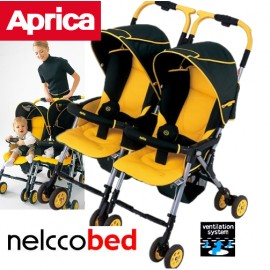 Коляска для двойни Aprica Nelko Bed Twin Thermo
