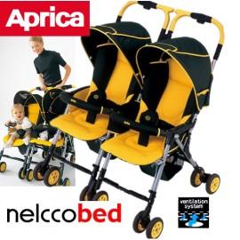Коляска для двойни Aprica Nelko Bed Twin Thermo