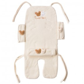 Amorosa mamma organic cotton stroller set Bear and Rabbit