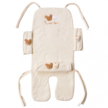 Amorosa mamma organic cotton stroller set Bear and Rabbit