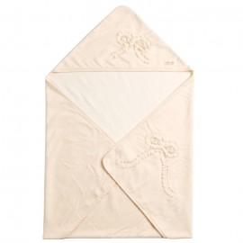 """Amorosa mamma одеяло-афган для новорожденного с аппликацией """"Большой бант"""""""
