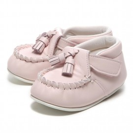 LEATHERIAN FIRST SHOES TASSEL Pink