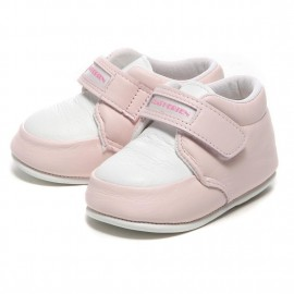 LEATHERIAN FIRST SHOES COMBI Pink