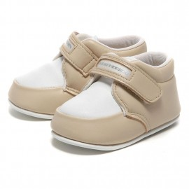LEATHERIAN FIRST SHOES COMBI Beige