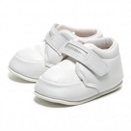 LEATHERIAN FIRST SHOES COMBI White
