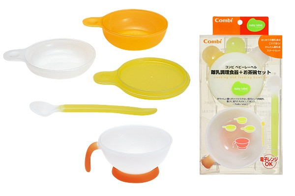 Combi Baby Label Dish Mini Set