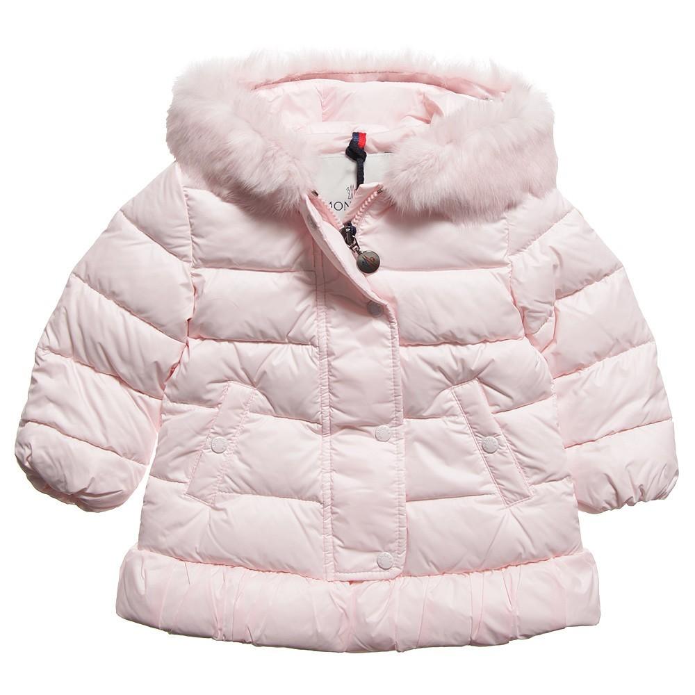 Moncler ENFANT Girls Down Padded Coat  пуховое пальто для девочки 6 мес/3 лет Розовый