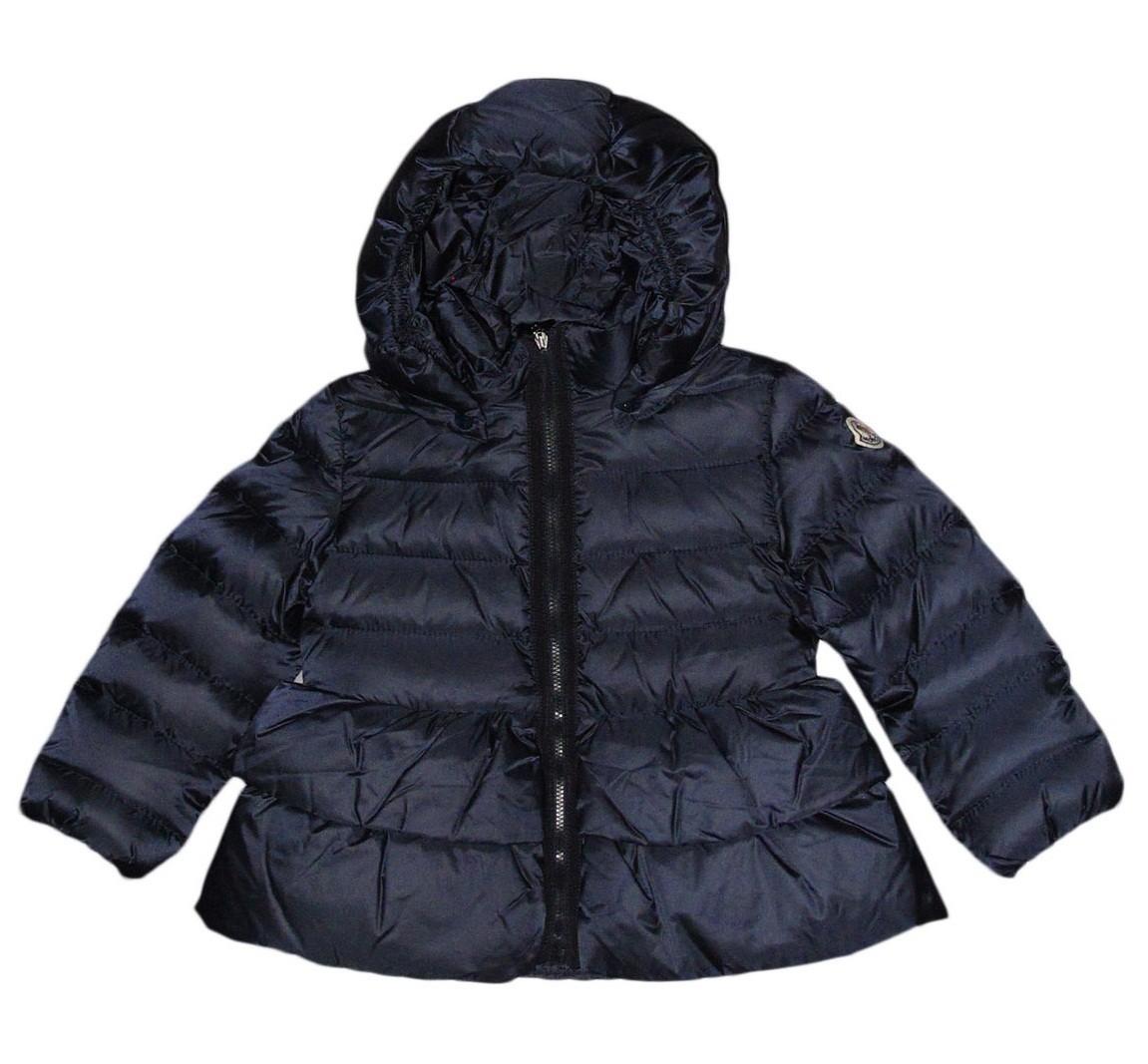 Moncler ENFANT EDWIGE пуховое пальто  для девочки 18 мес /3 лет Синий