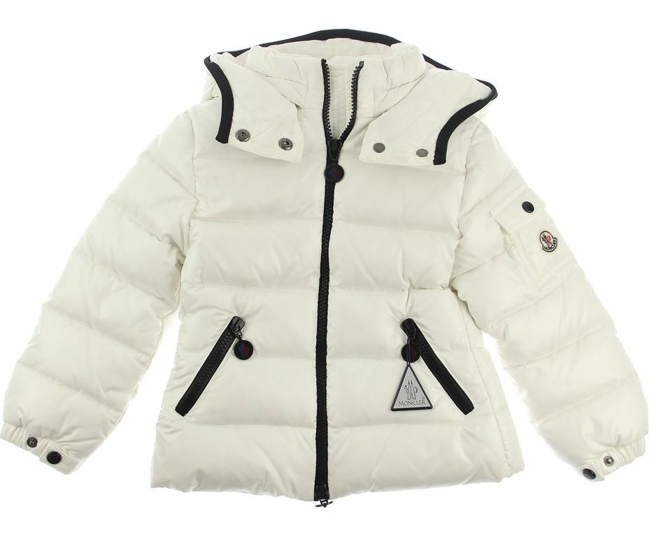 Moncler ENFANT Bady Girls Down Jacket пуховая куртка на девочку Слоновая кость