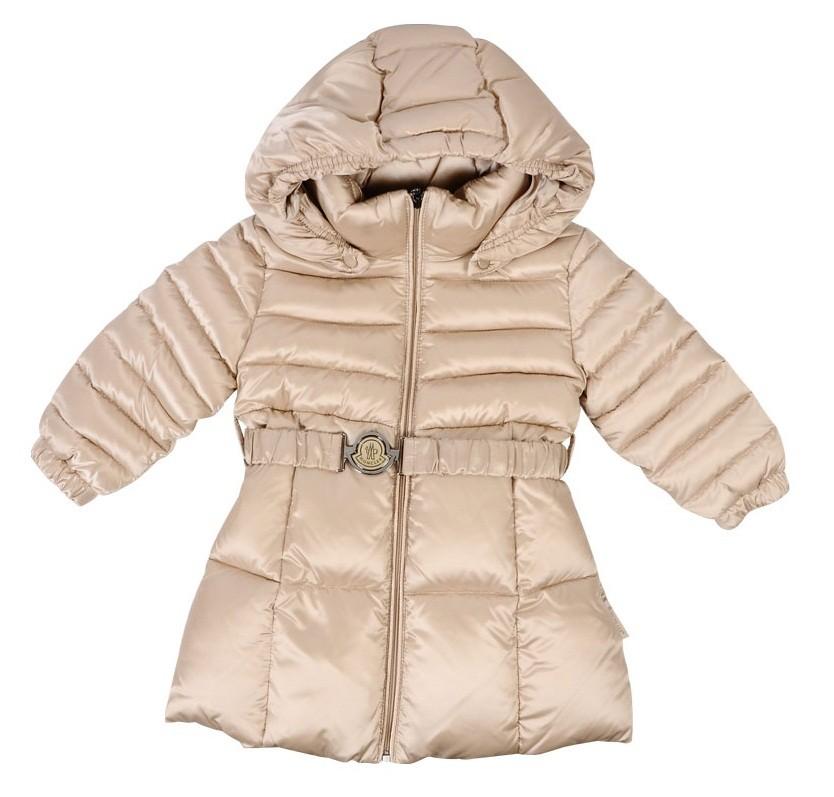 Moncler ENFANT MARQUE Girls Down Padded Coat пуховое пальто на девочку 9/18 мес Мастик