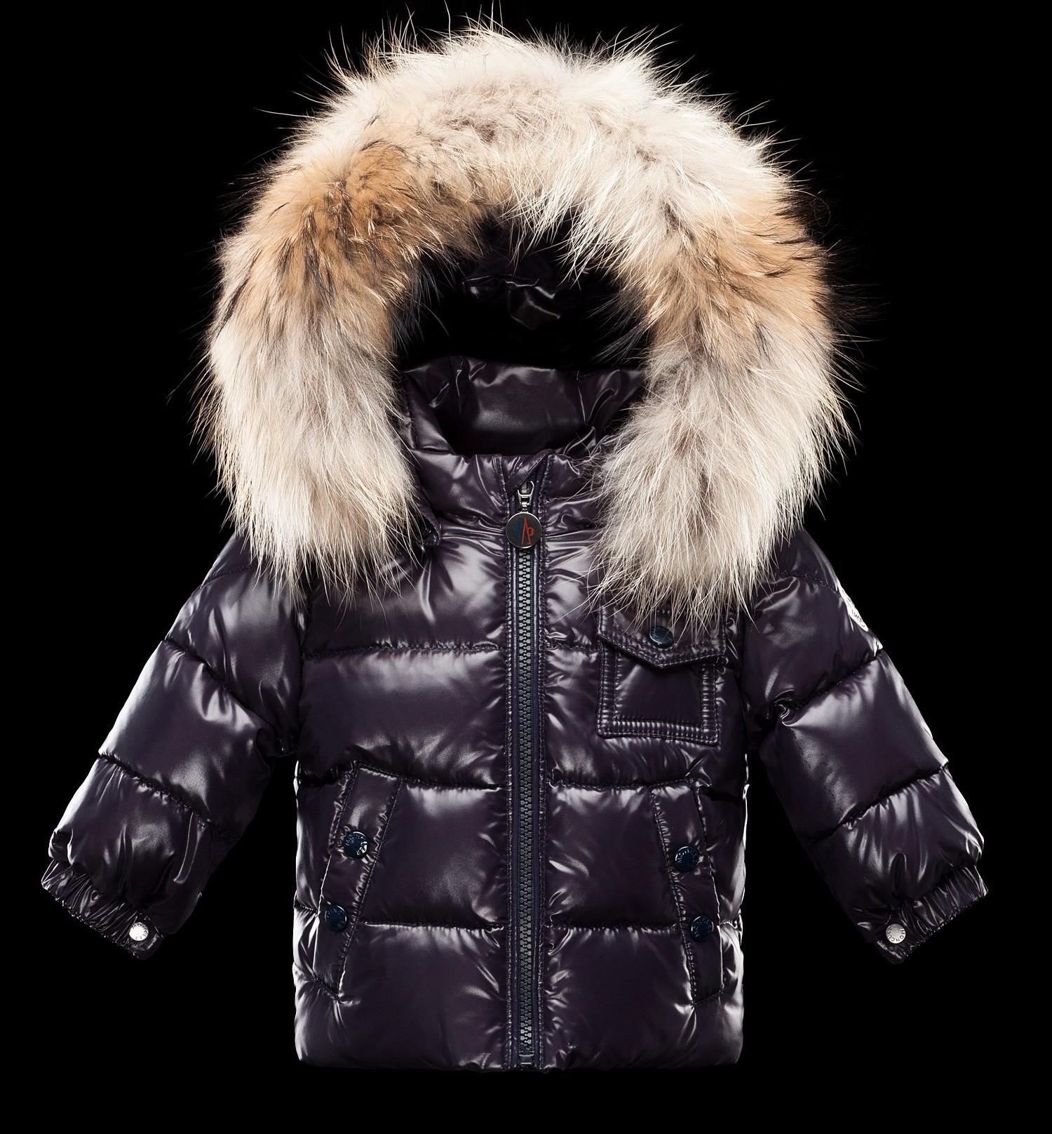 Moncler  ENFANT K2 Baby Down Jacket пуховая куртка с капюшоном 3/36 месяцев Синий