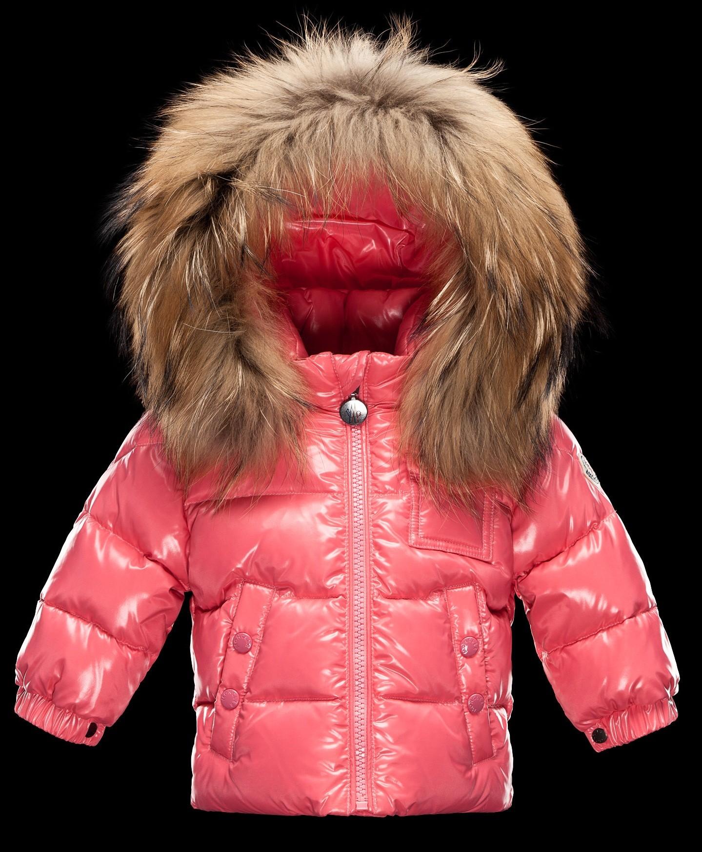 Moncler  ENFANT K2 Baby Down Jacket пуховая куртка с капюшоном 3/36 месяцев Розовый