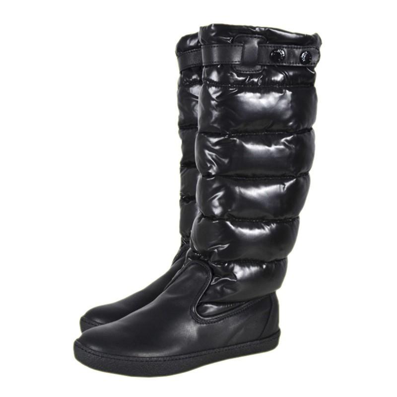 Moncler Girls Down Padded Boots сапоги на пуху для девочки Черный
