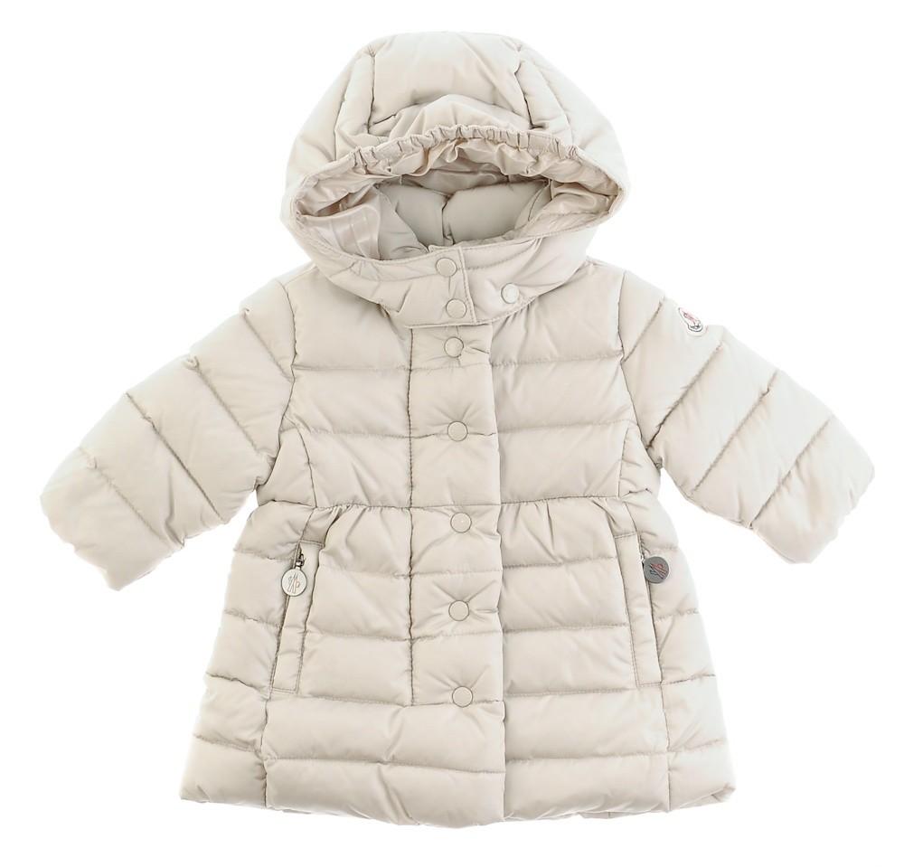 Moncler  ENFANT Girls Padded Hooded Down Coat  пуховое пальто для девочки 3 мес / 3 лет Бежевый