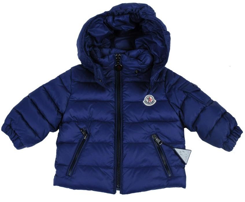 Moncler  ENFANT Jules Down Jacket пуховая куртка с капюшоном на 6 месяцев Синий