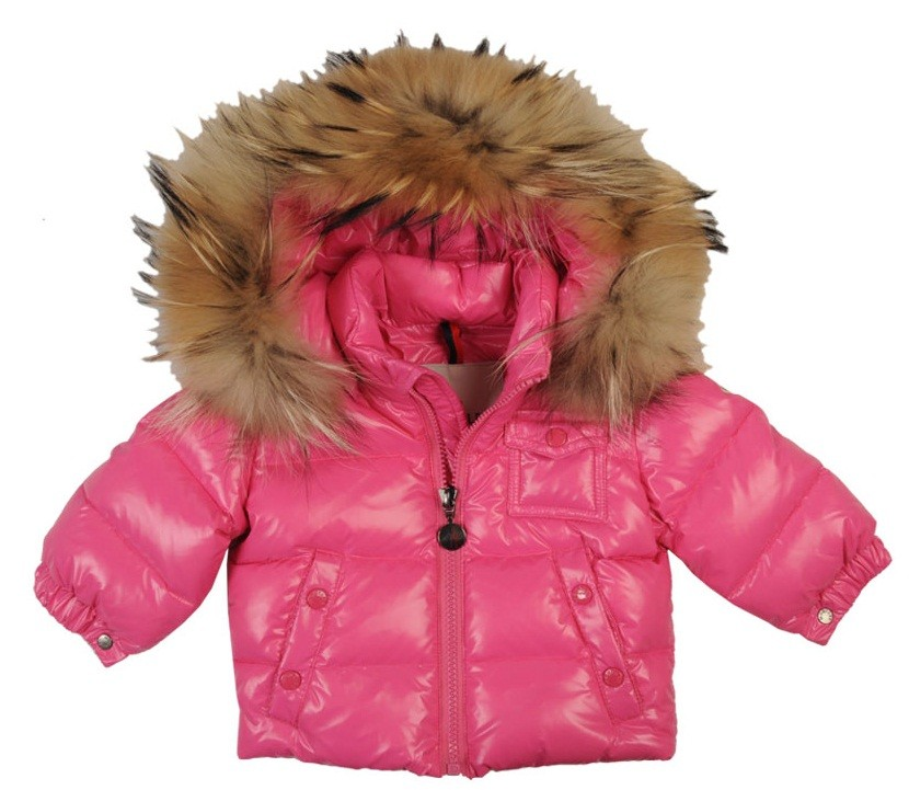 Moncler ENFANT K2 Baby Down Jacket пуховая куртка с капюшоном на 3 месяца Фуксия