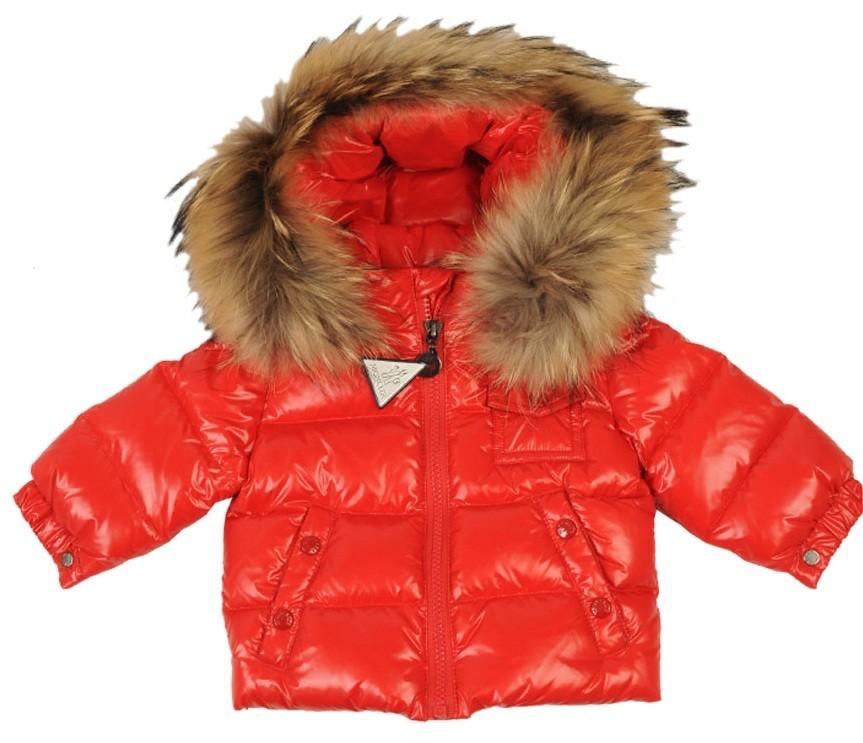 Moncler ENFANT K2 Baby Down Jacket пуховая куртка с капюшоном на 3 месяца и 6 месяцев  Красный