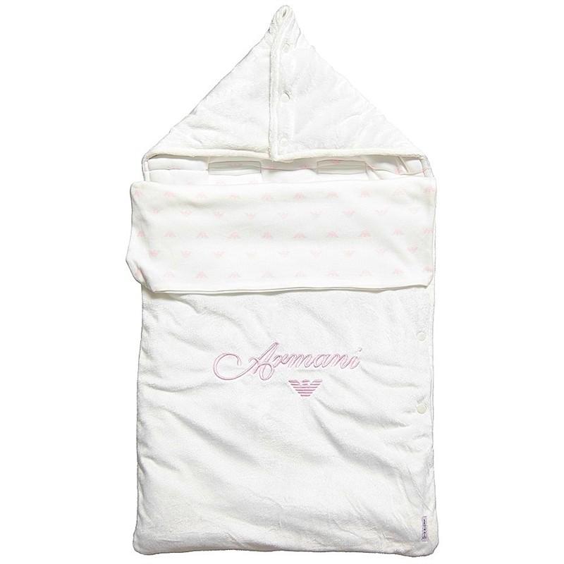 Armani Baby велюровый конверт для младенца Розовый