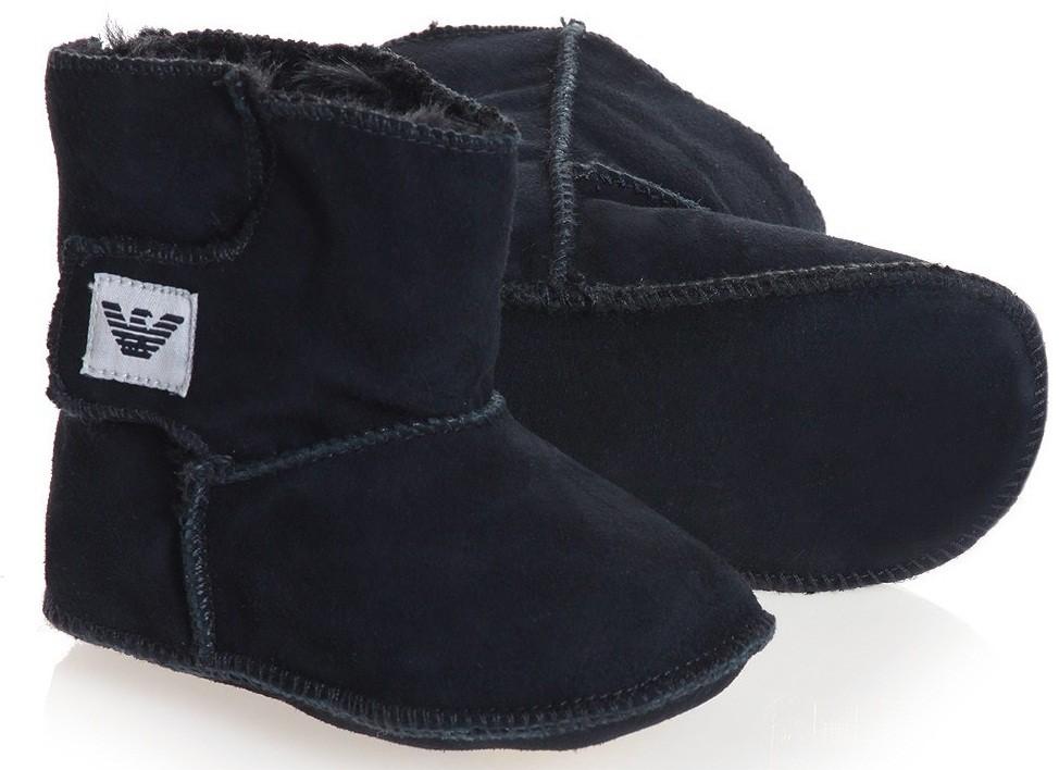 Armani Junior мутоновые сапожки для младенца 0/9 месяцев Синий