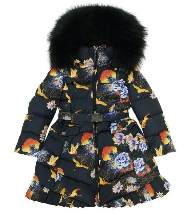 MANUDIECI пуховое пальто на девочку. Размеры 6, 8, 10 лет