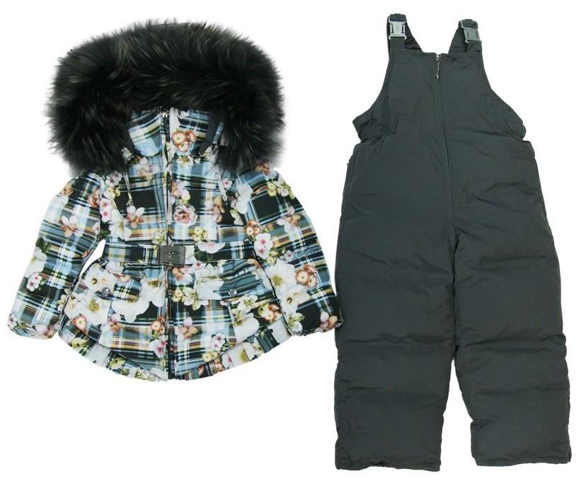 MANUDIECI пуховой комплект- куртка и штаны для девочки. Размер 3г,4г,5л,6л